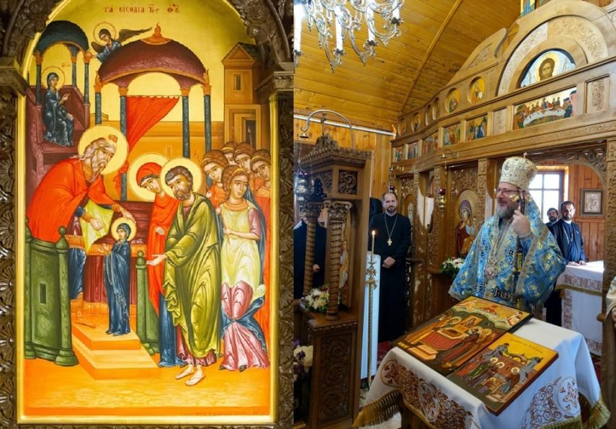 """(FOTO) """"Intrarea în biserică a Maicii Domnului, icoana copilăriei noastre"""" - PS Emilian Crișanul, la Schitul Tămand"""