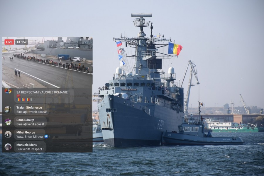 """Fregata """"Regele Ferdinand"""" s-a întors acasă după cinci săptămâni de misiune"""