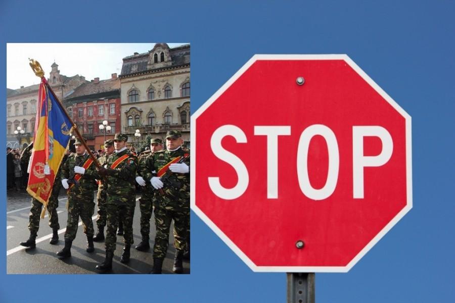Restricții de circulație în Arad, de Ziua Națională