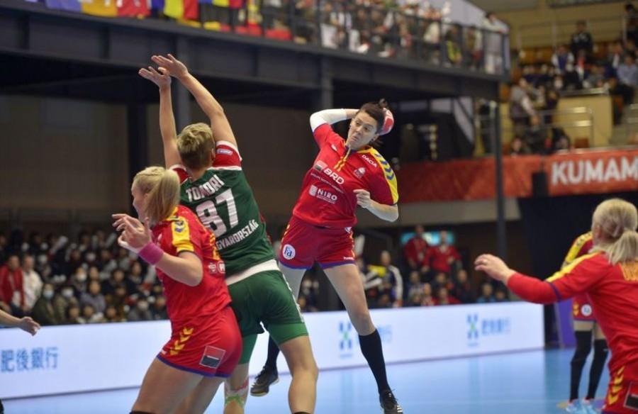 România a învins Ungaria și s-a calificat în faza grupelor principale de la Campionatul Mondial de handbal feminin din Japonia