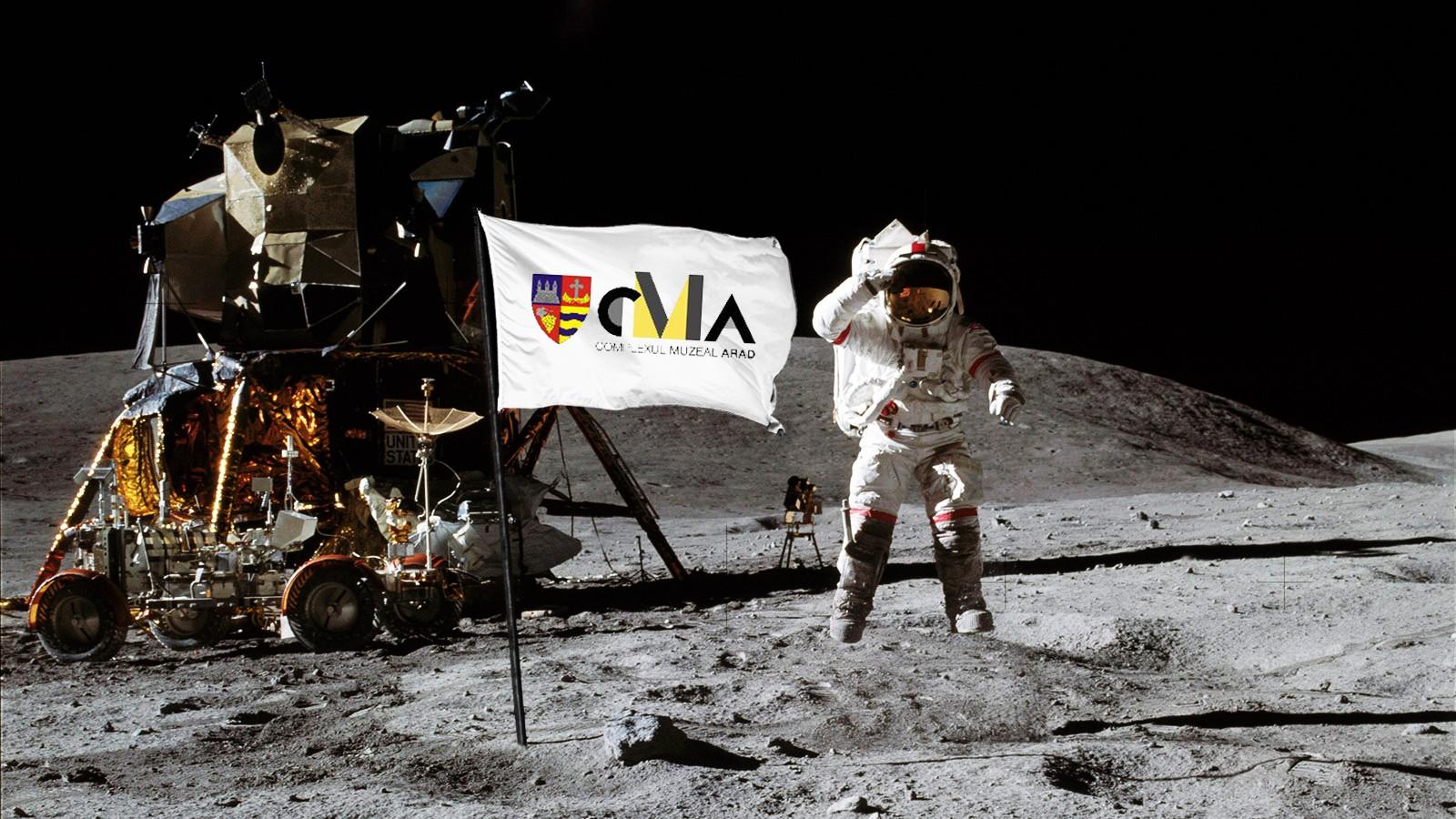 Înapoi  pe Lună. Jumătate de secol de la primul pas pe Lună, marcat la Complexul Muzeal Arad