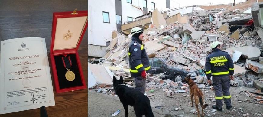 Prim-ministrul Albaniei a acordat salvatorilor români Medalia de aur de apreciere profesională