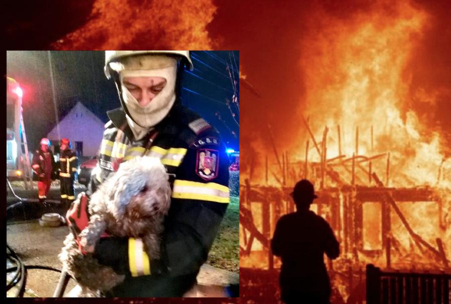 """""""Nenea, cățelușii mei au rămas în casă!"""". Altă zi, alt incendiu, un nou gest impresionant al unui pompier arădean"""
