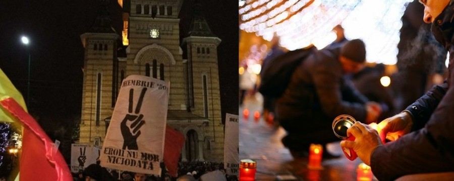 Zi de doliu în Timișoara. Sunt comemorați primii 66 de manifestanți uciși în decembrie 1989