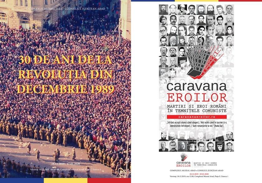 """Lansare de carte dedicată tinerilor uciși în Revoluția din 1989 și expoziția """"Caravana eroilor"""" din temnițele comuniste, la Muzeul din Arad"""