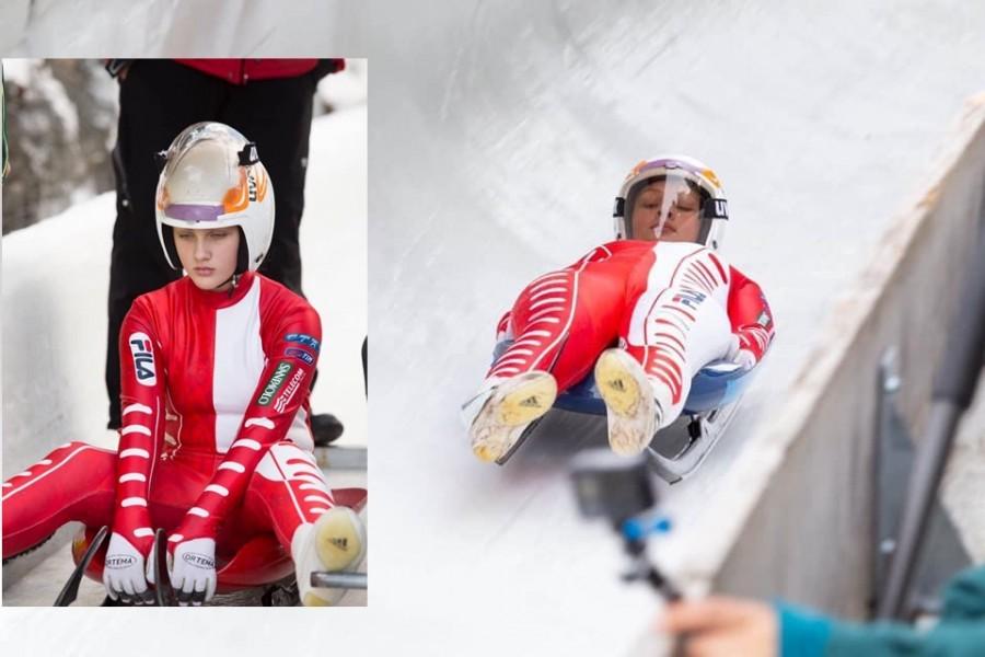 Ana Teodorescu, campioană națională la sanie la doar 13 ani