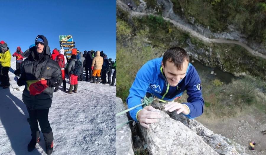 """""""Alpinistul cu ochii albi"""". Alex Benchea, primul alpinist român nevăzător care a cucerit vârful Kilimanjaro"""