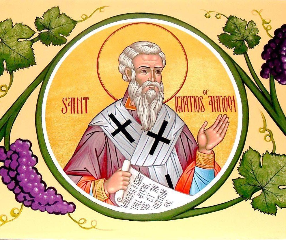 Sfântul Mucenic Ignatie Teoforul, copilul purtat în brațe de Mântuitorul