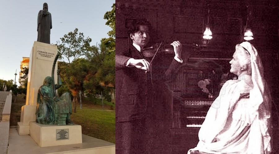 George Enescu, Regina Elisabeta și o imagine la malul mării