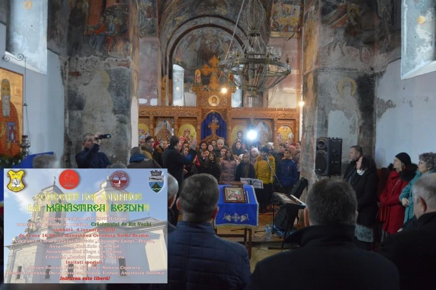 Concert de colinde la Mănăstirea Bezdin