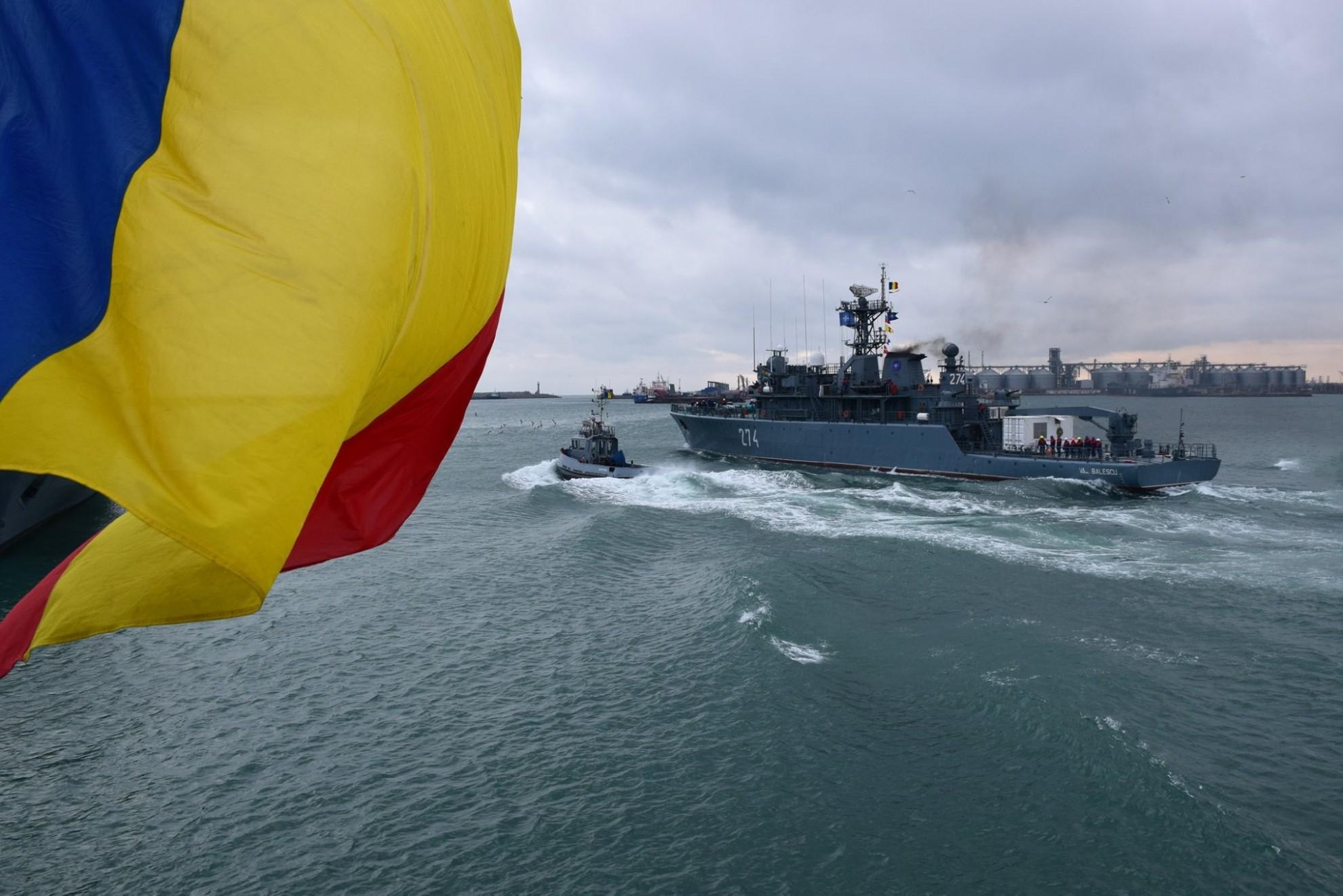 """Nava militară """"Viceamiral Constantin Bălescu"""" a plecat în misiune pentru șase luni, în Marea Neagră și Marea Mediterană"""