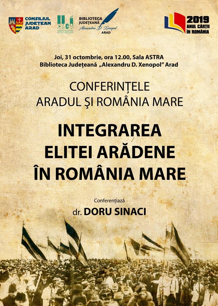 """""""Conferințele Aradul și România Mare"""". O nouă serie de conferințe științifice, organizată la Arad"""