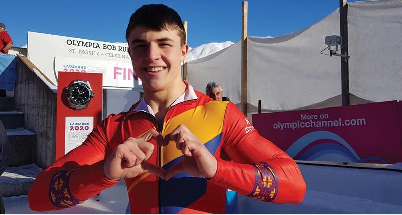 Andrei Nica, medaliat cu aur la monobob la Jocurile Olimpice de Tineret