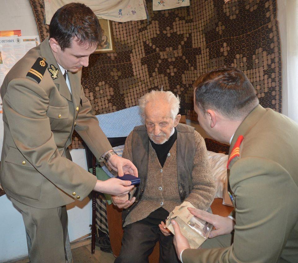 Veteranul de război Aurel Antonie, cel mai vârstnic dintre maiorii Armatei, a trecut la cele veșnice la 105 ani