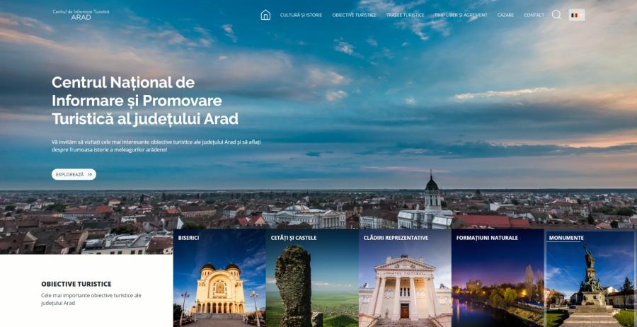 Obiectivele turistice și istoria meleagurilor arădene, prezentate pe noul portal al turismului lansat de CJA