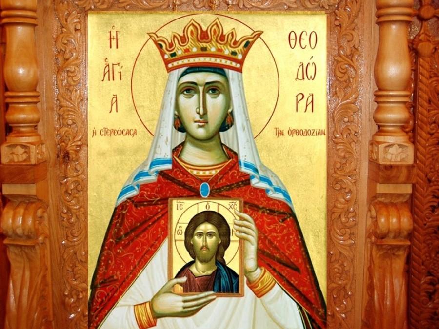 Sfânta Teodora Împărăteasa, apărătoarea icoanelor
