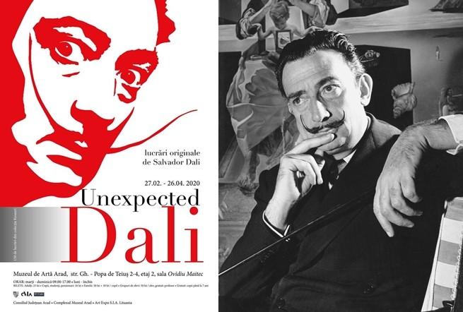 """Pentru prima dată în România, la Muzeul de Artă Arad, se deschide expoziția """"Unexpected Dali"""""""