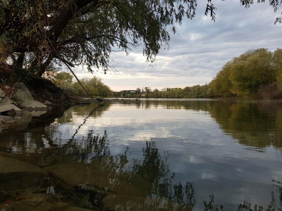 Malul Mureșului, în imagini, într-o zi de noiembrie