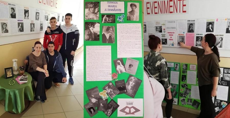 """Un Dascăl cu har, elevi interesați și un proiect de suflet la Liceul Tehnologic din Chișineu-Criș, în luna mărțișorului: """"Personalități feminine din România"""""""