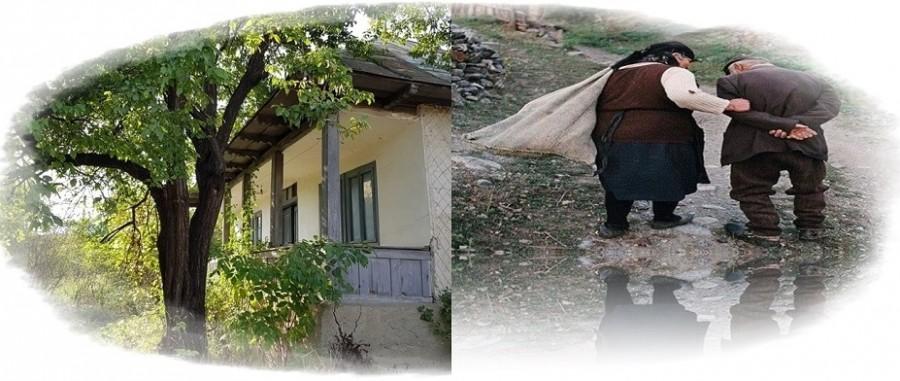 Amintiri din satul meu. Pe prispă la Nea Lampie