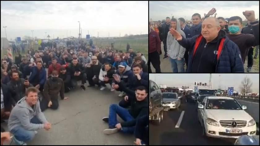 Românii blocați la granița Austriei cu Ungaria, culoar unic spre România până miercuri dimineața