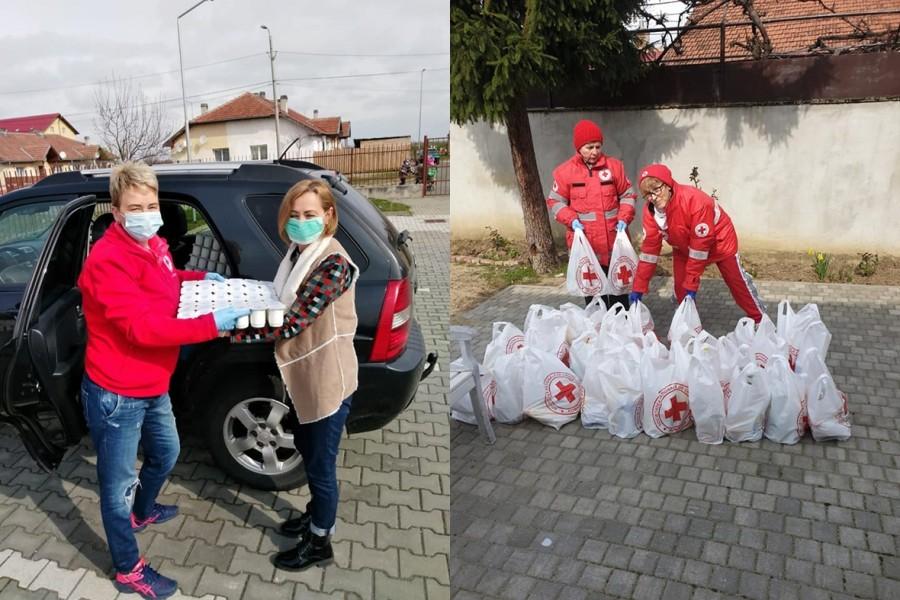 Crucea Roșie Arad, în continuare alături de cei afectați de pandemia de coronavirus