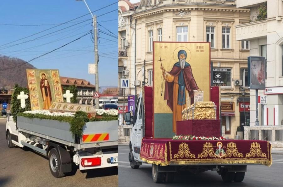 Moaștele Cuvioasei Parascheva și ale Sfântului Dimitrie cel Nou, scoase în procesiune pentru ajutor în timpul pandemiei