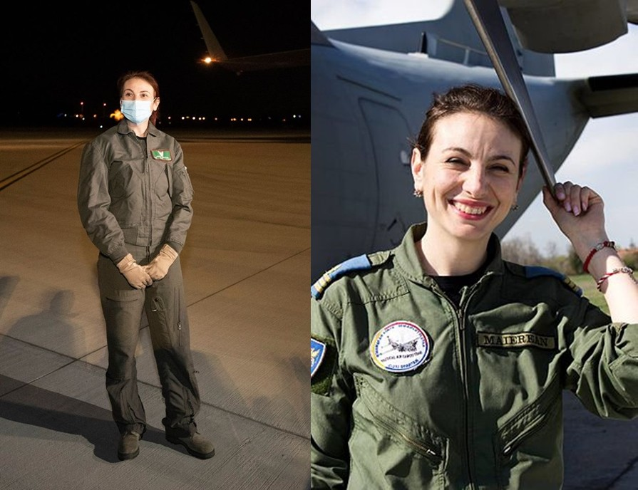 Este femeie, are 35 de ani și este unul dintre piloții care au adus din Coreea de Sud cele 100.000 de combinezoane de protecție