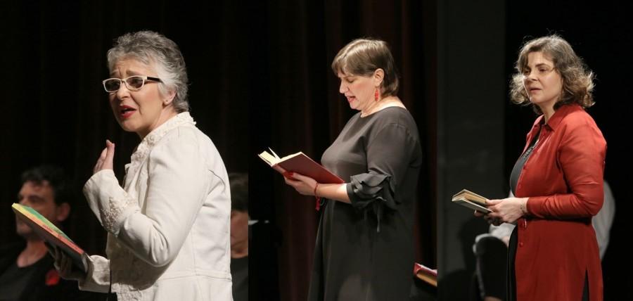 """Trei actrițe, multă emoție și versuri grăite inspirat, în Săptămâna Mare, la Teatrul Clasic """"Ioan Slavici"""" Arad"""