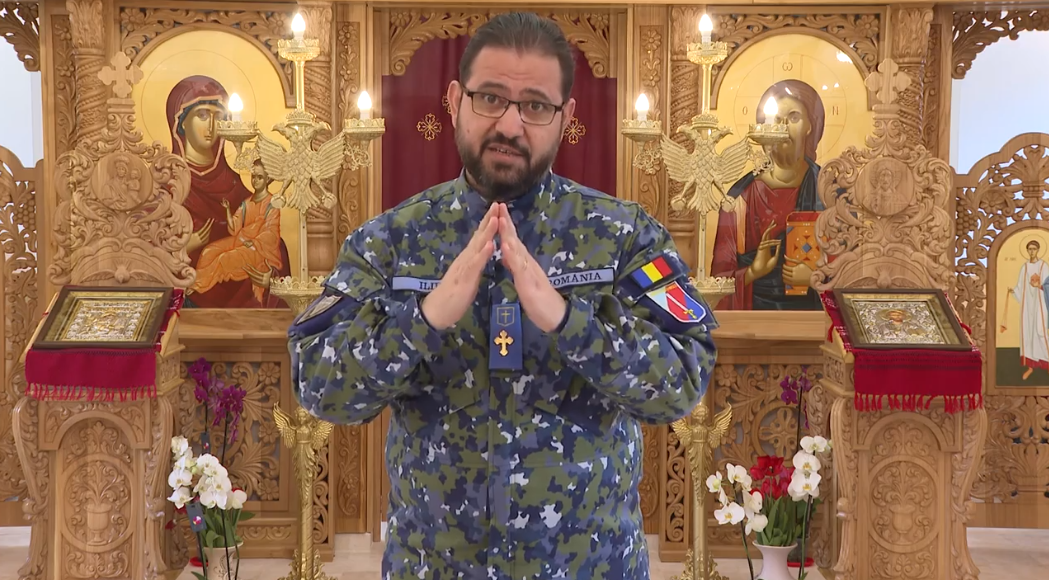Slujba Învierii și Denia din Vinerea Mare oficiate de un sobor de preoți militari, transmise în direct de MApN