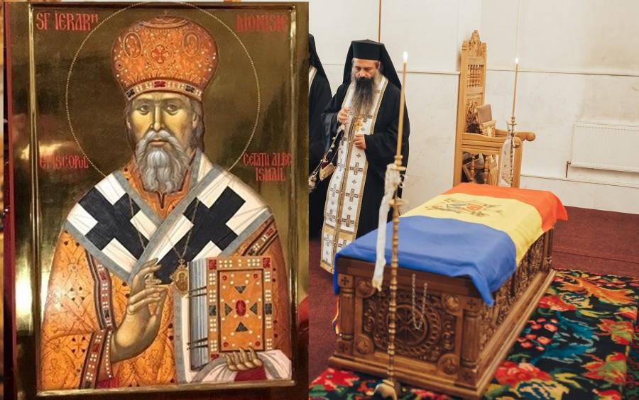 """Moaștele Sfântului Ierarh Dionisie Erhan, scoase în procesiune pentru """"izbăvire de secetă și molimă"""""""
