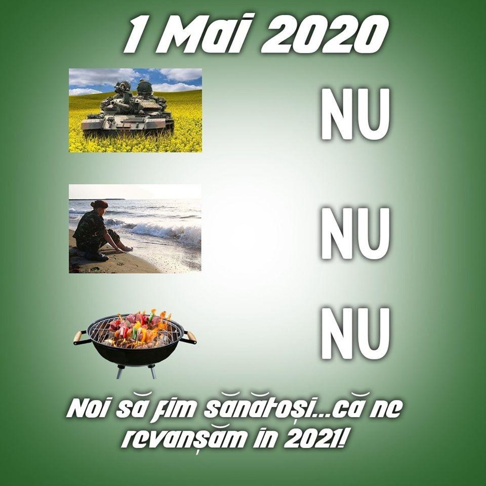 1 Mai 2020, să nu ziceți că n-ați știut: poze în rapiță, la mare, grătar cu prietenii –NU!