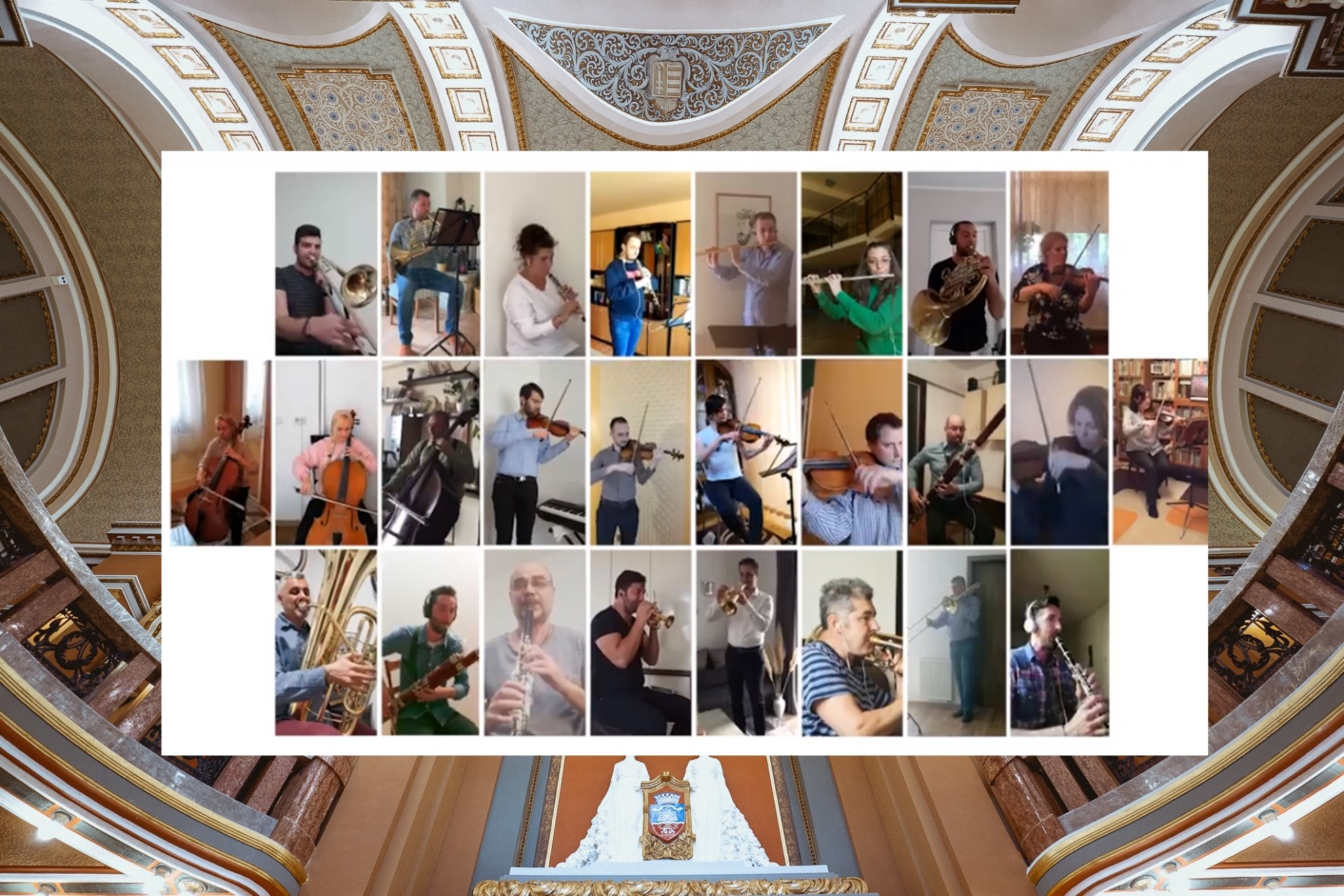 """(VIDEO) """"Oda Bucuriei"""", cântată online de Artiștii Filarmonicii Arad, din dor de scenă și de public"""