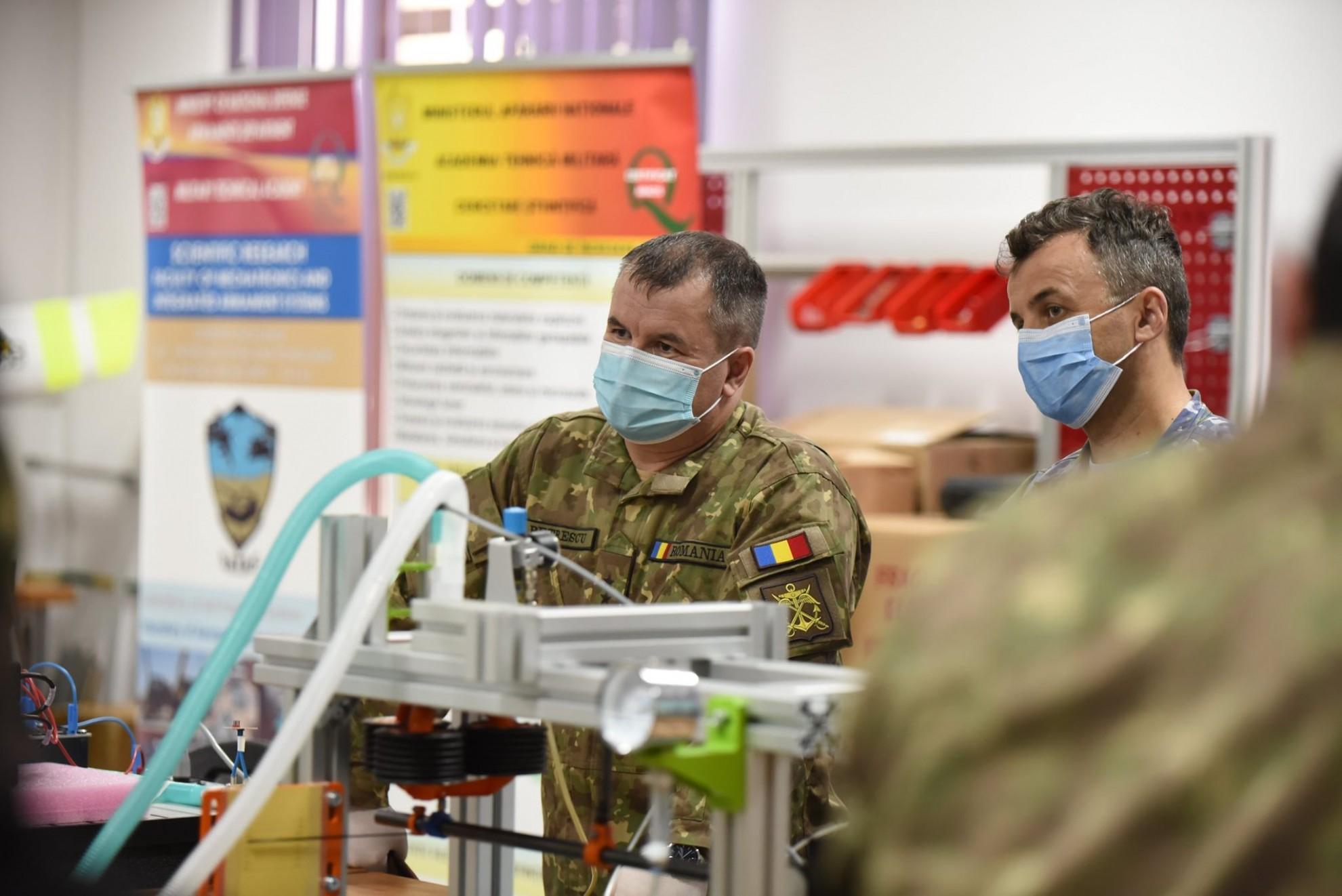 """Ventilator mecanic românesc proiectat și prezentat de Academia Tehnică Militară """"Ferdinand I"""""""