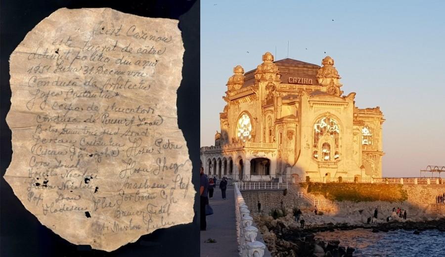 Strigătul de ajutor al unui deținut politic arădean, descoperit între zidurile Cazinoului din Constanța