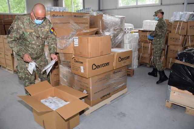 Aproximativ 200 de tone de materiale și echipamente medicale achiziționate pentru Armata României