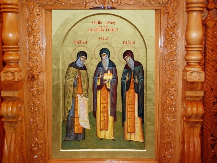 Sfinții Cuvioși Sila, Paisie și Natan de la Sihăstria Putnei, rugători pentru neamul românesc