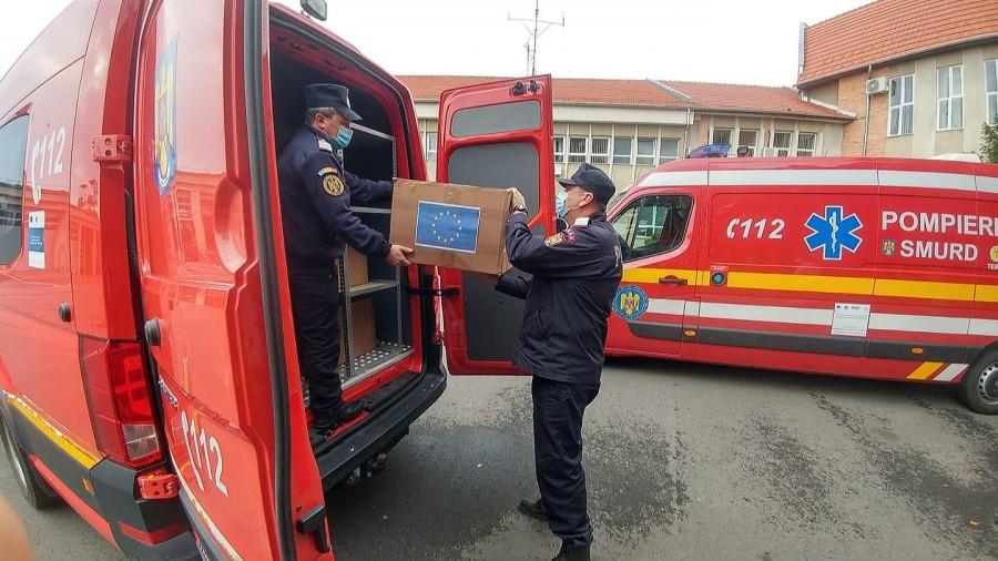 O nouă misiune umanitară: 20.000 măști de protecție FFP2 au plecat către Lituania
