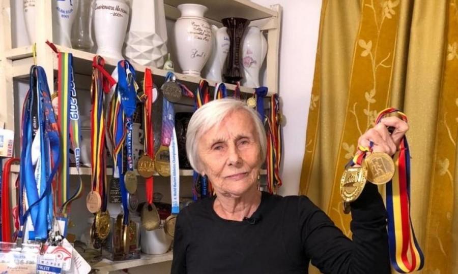 Elena Pagu se pregătește pentru Mondialul de atletism din 2021, la 94 de ani!