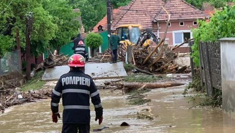 Cod Roșu de inundații în patru județe din vestul țării