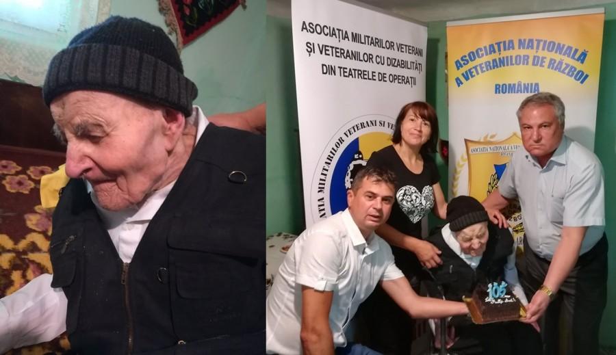 Veteranul de război Vasile Pescaru, sărbătorit la împlinirea vârstei de 105 ani