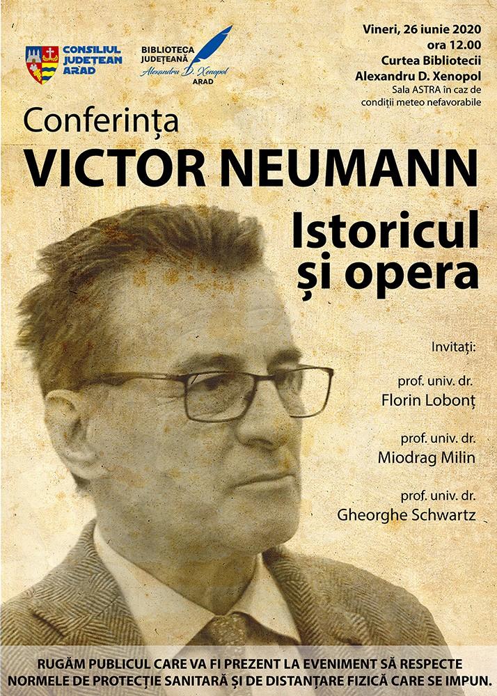 """Victor Neumann - omagiat la Biblioteca Județeană """"Alexandru D. Xenopol"""" Arad"""