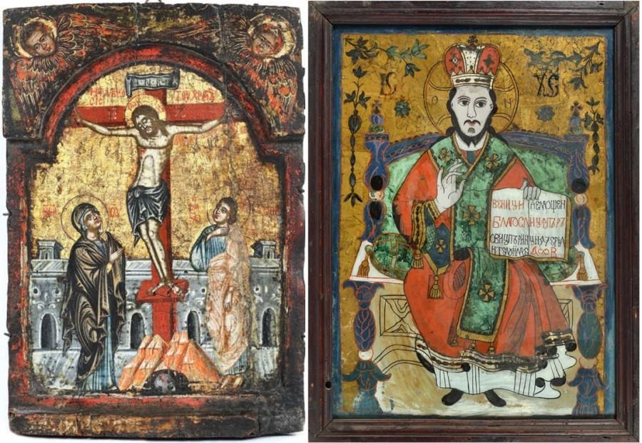 Icoane din vremea lui Mihai Viteazul şi Matei Basarab, scoase la vânzare