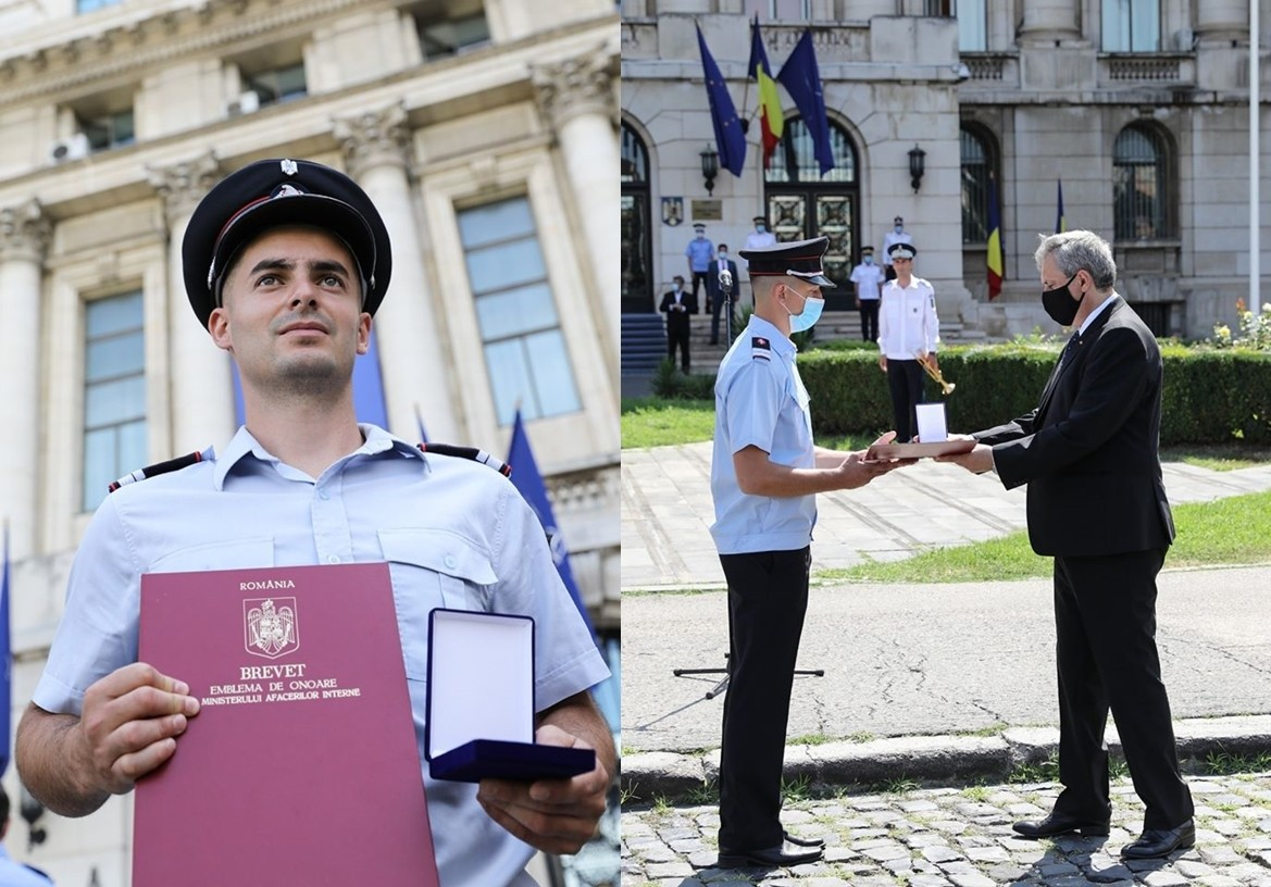 Un pompier arădean a fost decorat cu Emblema de Onoare a Ministerului Afacerilor Interne