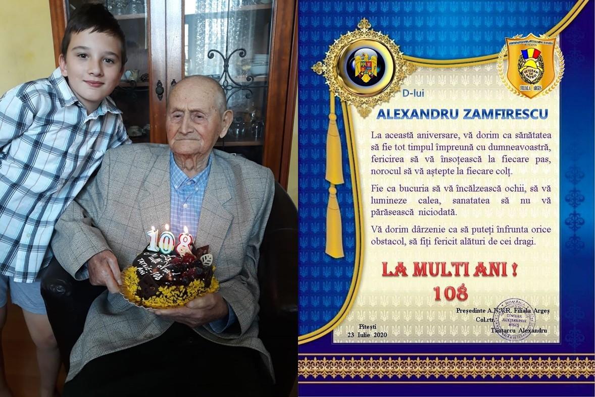 Veteranul de război Alexandru Zamfirescu a împlinit 108 ani! S-a luptat întâi cu rușii, apoi cu comuniștii și, mai târziu, cu soarta