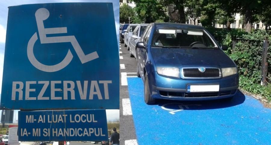 Amenzi usturătoare pentru cei care parchează pe locurile rezervate persoanelor cu dizabilităţi