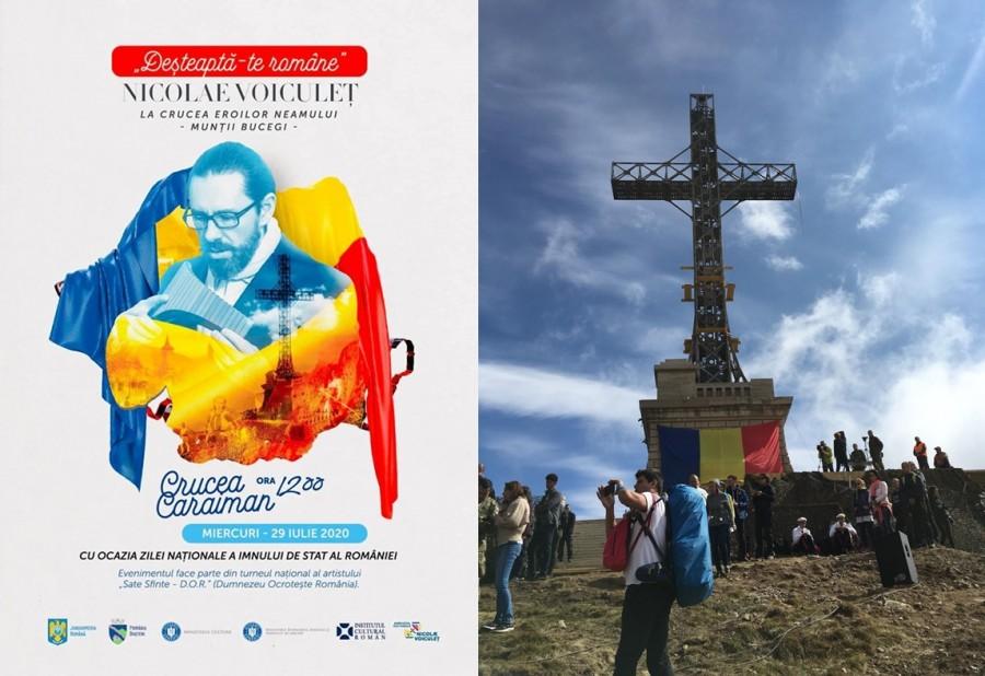 """Premieră în România! 40 de artiști vor cânta alături de Nicolae Voiculeț """"Deșteaptă-te, române!"""", la Crucea Eroilor de pe Caraiman"""