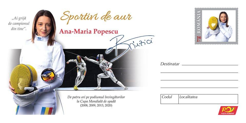 Sportivi de aur. Ana Maria Popescu, sărbătorită de Romfilatelia
