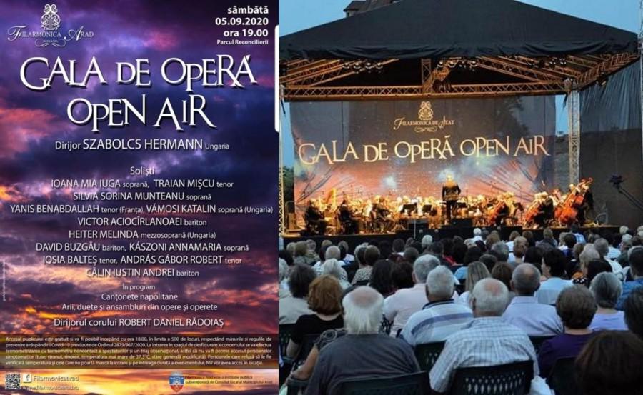 """Gala de Operă """"Open Air"""" Arad, la a XIV-a ediţie. Va avea loc în Parcul Reconcilierii, cu limitarea publicului la 500 de persoane"""