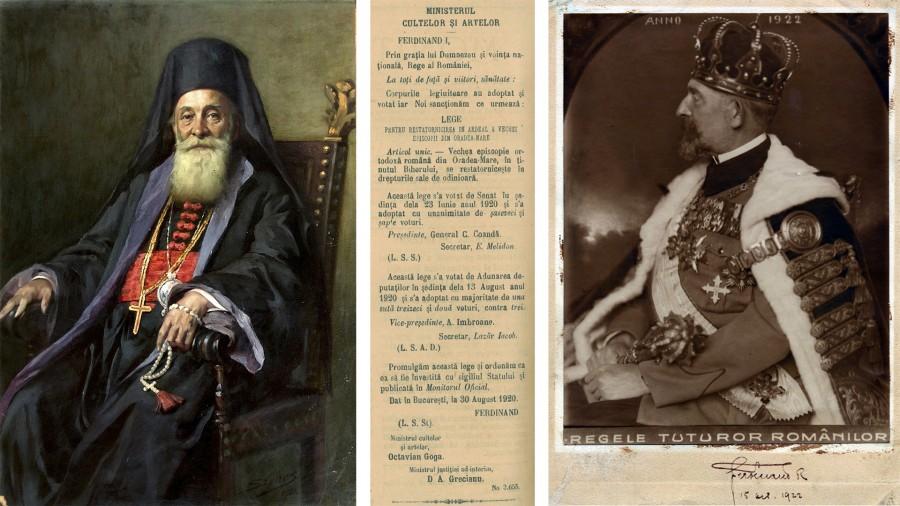 100 de ani de la reînființarea Episcopiei Oradiei, prin decretul semnat de Regele Ferdinand I